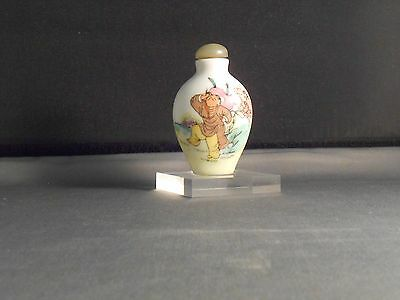 Vintage Chinese Porcelain Handpainted Snuff Bottle