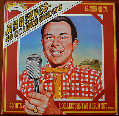 Jim Reeves ‎– 40 Golden Greats 2xLP Gatefold –  ADEP16  – VG/VG