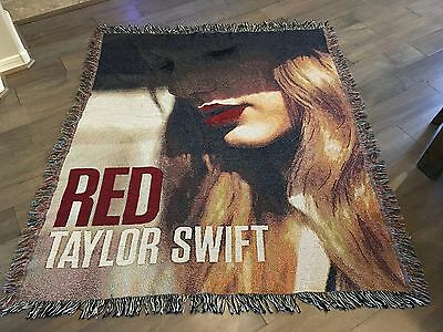Taylor Swift Red Concert/tour/album Woven Toss/throw Tapestry Blanket