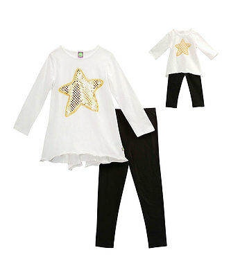 """Dollie & Me Girl 4-14 and 18"""" Doll Matching Tunic Leggings Outfit American Girl"""