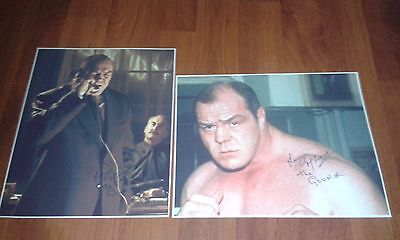 Lenny Mclean The Guv'nor Signed Pictures. Large. Krays. Unlicensed Boxing Colour