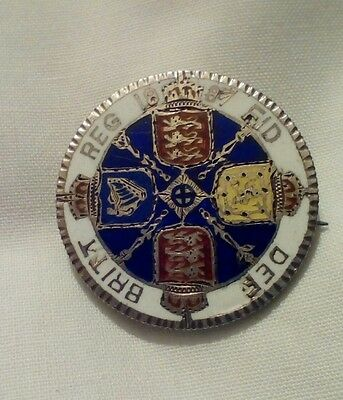1887 Queen Victoria Silver Florin – enameled and made into a brooch