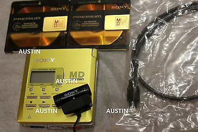 Sony Mz R55 Minidisc Player Recorder Md With Microphone