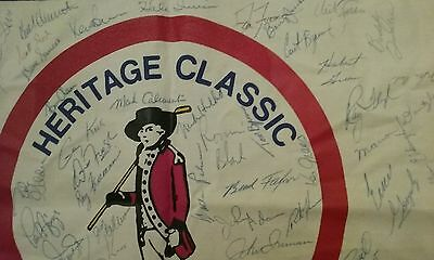 Heritage Golf Classic Autographed Pin Flag