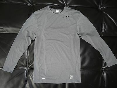Nike Pro Compression Long Sleeve GRAY Mens Dri-Fit DEFECTED