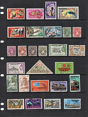 NIGERIA. Selection incl. SG222,177a,225,179 etc. Total of 27 stamps. Good Used.