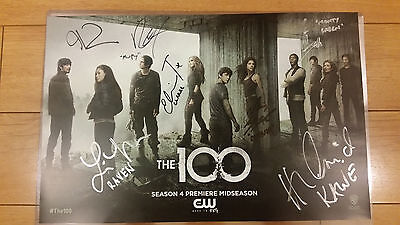 "SDCC 2016 "" THE 100 "" WB Exclusive CW 7X Cast Signed Taylor Larkin Cusick Morgan"