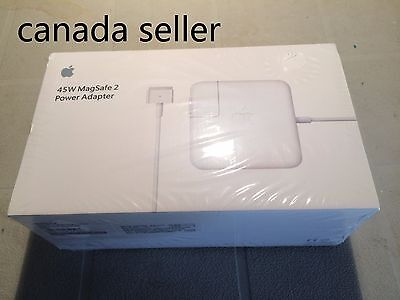 Brand new genuine Apple 45W Magsafe 2 Power Adapter Charger - for Macbook Air