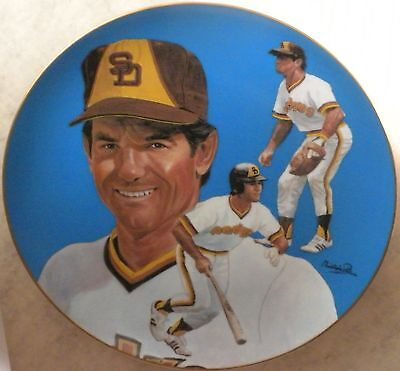 Vtg Steve Garvey Autographed Plate Auto Mint in Box San Diego Padres Collector