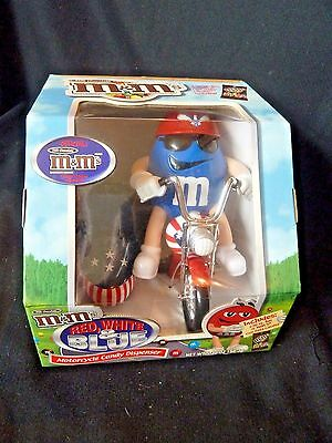 M&M's Red, White & Blue Motorcycle Candy Dispenser - Limited Edition - New