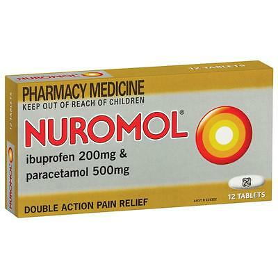 ~ Nuromol Double Action Pain Relief 12 Tablets Back Dental Period Migraine