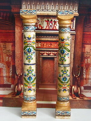 COLUMNS PILLARS ancient EGYPTIAN  ART DECO dolls house #1D