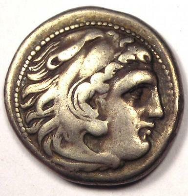 Alexander the Great III AR Drachm Coin 336-323 BC - Very Fine - Rare!
