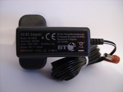 BT Graphite 2500 Additional Base Unit Replacement Power Supply