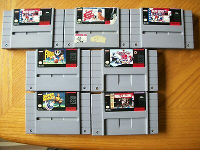 Lot of 7 Super Nintendo SNES Games -- Game Only