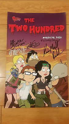 Wondercon 2016 Exclusive AMERICAN DAD! THE TWO HUNDRED 5 X Signed 200th Episode
