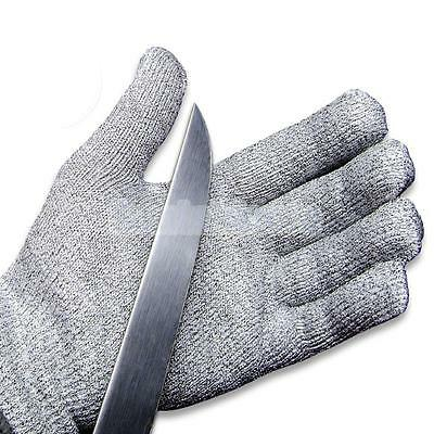 Pair Safety Cut Proof Stab Resistant Stainless Steel Metal Mesh Butcher Gloves M