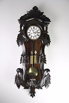 Antique 2 Weight Driven Wall Clock In Beautiful Case
