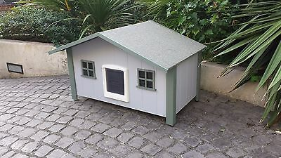 cat house with catflap beach style 3 / external cat house / outdoor cathouse
