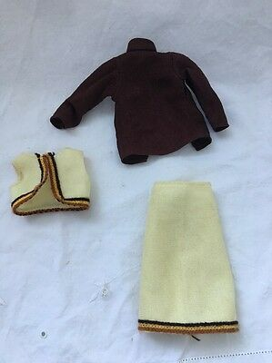 Vintage Knock Off Barbie Doll Clone Outfit SKIRT Vest Brown Blouse
