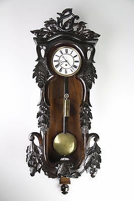 Antique 1 Weight Vienna Wall Clock In Beautiful Case