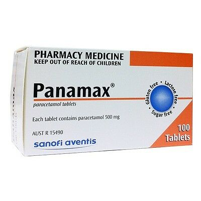 ~ Panamax 100 Tablets For Fevers Arthritis Headaches Muscular Neuralgic Pain