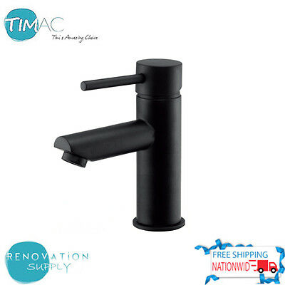 Brand New Elegant Circular Design Matte Black Vessel Basin Mixer Solid Brass