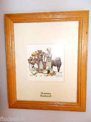 Norman Rockwell Lithograph Print Wood Frame Wall Hanging Collectible Authentic