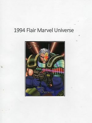1994 Flair Marvel Universe Trading Card #70 Cable
