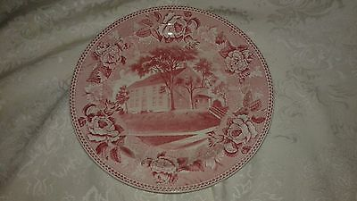 Wedgwood Pink/Red Tx Ware Campus Martius Ohio Daughters of Amer. Revolution