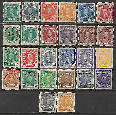 Venezuela - Mint Group of 1890's to 1920's Issues (2 scans)
