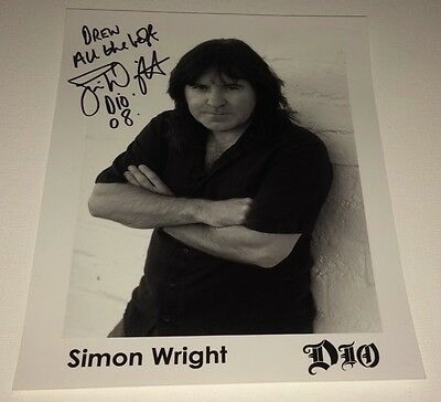 Simon Wright AC/DC Dio Rock Band Drummer Signed Autograph 8x10 Photo