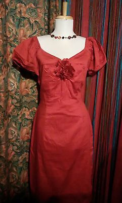 Vintage 50s Style Red Rose Nigella Dress by Sirens & Starlets 16