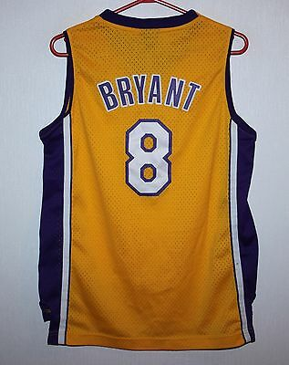 Los Angeles Lakers NBA shirt jersey #8 Bryant Reebok KIDS Size L