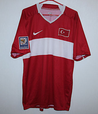 Rare Turkey National Team home player issue match worn ? shirt 08/10 #4 Nike