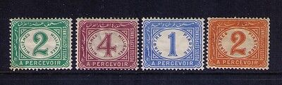 Egypt Postage Due Stamps Sc# J15-18 MH
