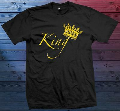 King Couple Matching Love NEW T-Shirt Sizes/Colors S-M-L-XL