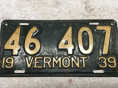 1939 Vermont license plate