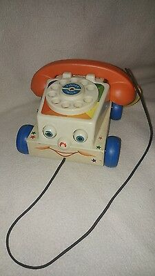 fisher price vintage pull telephone kids play phone