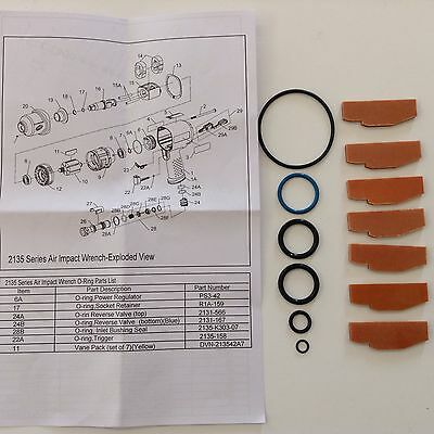 Ingersoll Rand Vane and O-Ring Kit for IR2135, IR2131 Impact Wrenches