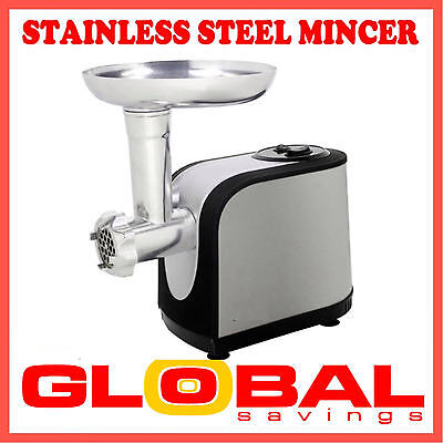 New Powerful Stain. Steel Electric Meat Grinder Mincer & Sausage Maker  Rrp $249