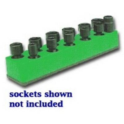 3/8 in. Drive Universal Dark Green 11 Hole Impact Socket Holder 9-19mm MTS986
