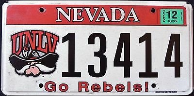 "NEVADA "" UNLV GO REBELS "" COWBOY NV University Graphic License Plate"