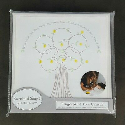 New Sweet and Simple Fingerprint Tree Canvas Wall