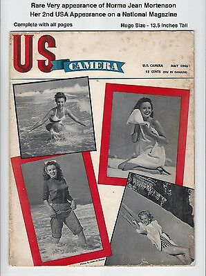 US CAMERA - 2nd NORMA JEAN COVER! - VERY SCARCE 1946 - MARILYN MONR46OE