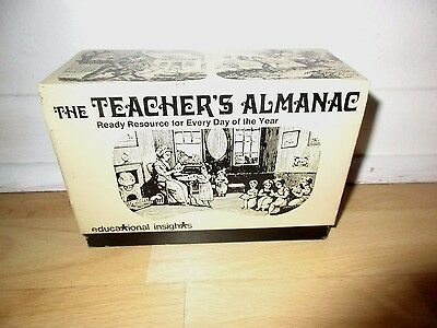 1977 The Teacher's Almanac Ready source for everyday of the year Great condition