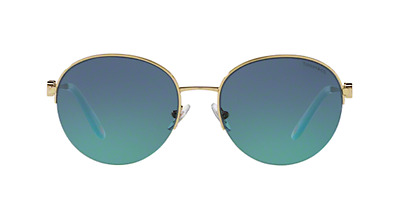 7c57ad926f6 NWT TIFFANY   CO. Sunglasses TF 3053 60219S Pale Gold   Blue Gradient 56 mm
