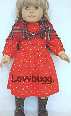 Pioneer School Red Dress Repro for American Girl 18 inch Doll Clothes  Kirsten
