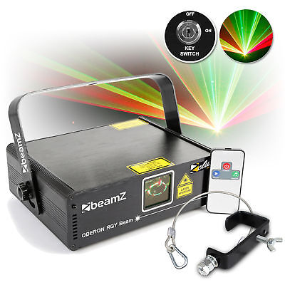 Beamz Oberon II 230mW RGY DMX Red Green Yellow DJ Laser w/ G Clamp Safety Cable