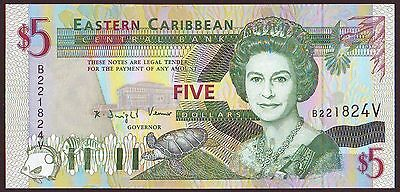East Caribbean States  St. VINCENT   5 Dollars  ND (1994)   UNC